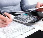 Filling the Form 1040. Standard US Income Tax Return